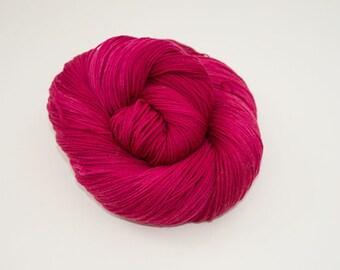 Hand-dyed yarn - Merino/Nylon 4ply  - 100g - Cherry