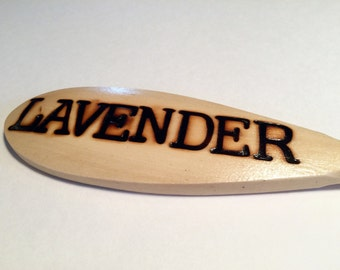 LAVENDER-Wooden Spoon Plant Marker