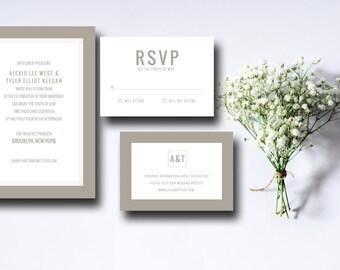 Printable Wedding Invitation Suite Boxed In