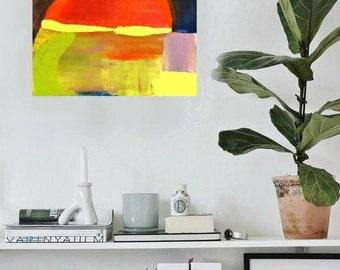 "18""x24"" Original Painting Abstract Minimalist Modern Art Contemporary Artwork"