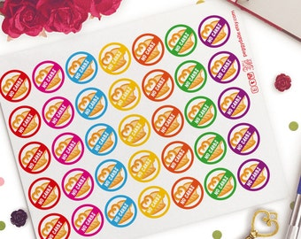 No Carbs Planner Stickers | Life Planners | Carbs Ban | Carbs Free Day | Bread