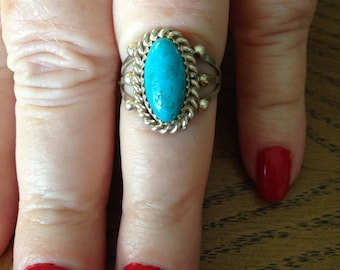 Sterling Silver Turquoise Ring