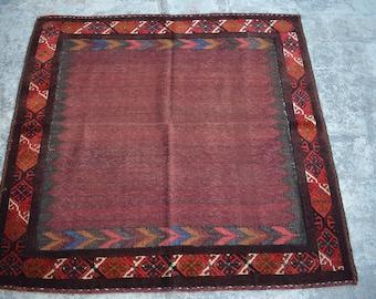 Beautiful Handmade Vintage Persian Square Kilim rug