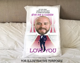 Personalised secret agent pillowcase / Gifts for Him / Gifts for Her