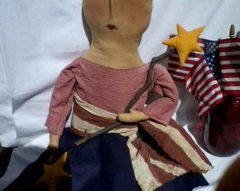 Spring Sale Primitive Americana Lady Liberty
