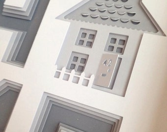 HOME Layered personalised papercut