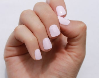 Solid Petal Pink Nail Wraps