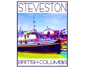 Steveston B.C. - Love This Place Cityscape - Art Print on Paper - Home Decor Tourism Gift Photo TheJitterbugShop