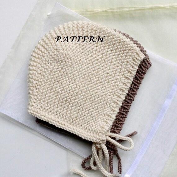 Pattern Baby Bonnet baby Hat Hand knit Bonnet Newborn Hat