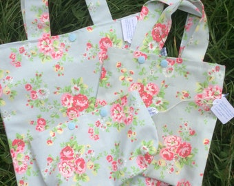 Cath Kidston spray flowers project bag - knitting crochet sewing