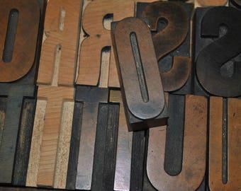 Letter O Vintage Wood Letterpress   Capital Letter O  Antique Letterpress Block 2.5 Inches Tall