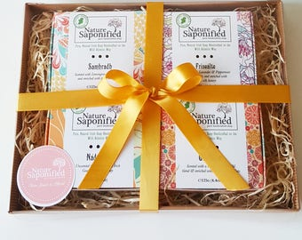 Luxury Soap Gift Set with 4 Soaps of your choice.  Soap Gift, Gift Set, Spa Gift, Pampering Set, Gift for her, Natural Gift, Christmas Gift