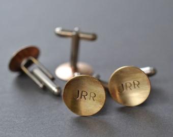 Monogram Cufflinks- groomsman gift ideas, initial cufflinks, custom cufflinks, customized cufflinks, personalized gift, wedding gift