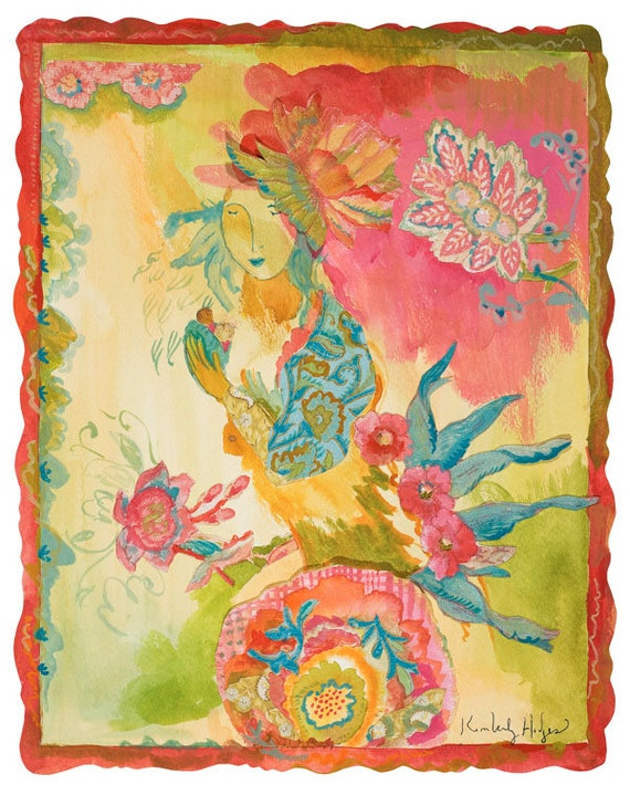 Cantalily Shells print by Kimberly Hodges, 11 x 14, 16 x 20 in watercolor paper, stretched canvas