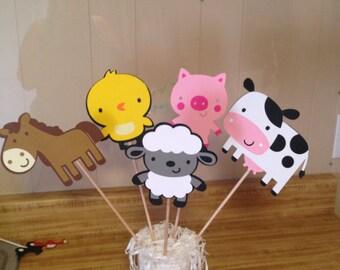Set of 5 Farm animal Centerpieces