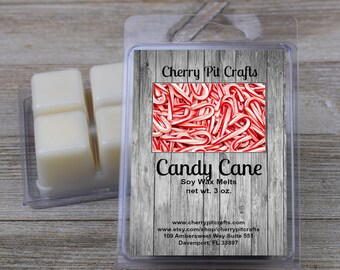 Candy Cane Soy Wax Melts - Handmade Soy Wax Melts