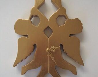 Golden angel clock