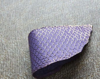 Big skin TILAPIA Golden Lilac Rose Ideal for leather goods and accessories
