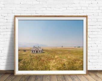 """landscape photography, instant download art, printable wall art, instant download, printable art, large art, art prints, art - """"Stone House"""""""