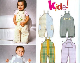 Simplicity New Look Pattern 6312 Baby Romper Jumper NEW Size A NB-L