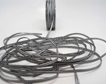 Grosgrain Striped Ribbon -- 3/16 inch -- Black White