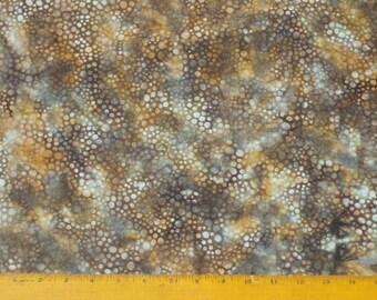 Hoffman fabric, batik, mottled browns and grays, dapples