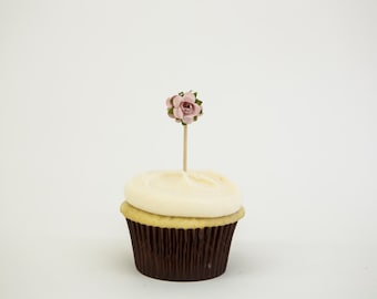 Petite Rosette Cupcake topper and Party Pick