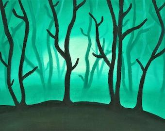 8x10 PRINT Emerald Forest