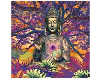 Kwan Yin Goddess Art Canvas - by Christopher Beikmann - Healing Nature