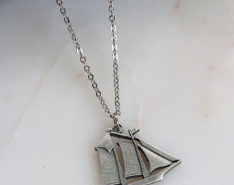 Sail Boat Necklace - Boat Necklace