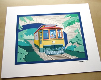 Lake Harriet Trolley Giclee print