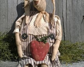 Mr Berry Bunny~primitive rabbit