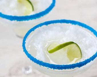 Blue Margarita Salt – Turquoise Blue Salt Rim Ideal for a Beach Theme Party or Beach Wedding Cocktails