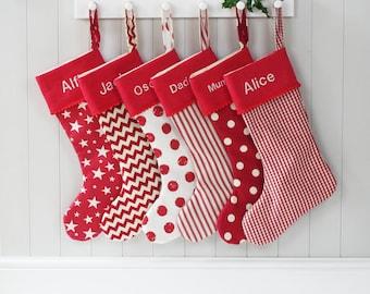 Christmas Stocking - Holiday Stocking - Personalised Christmas Stockings - Christmas Decorations - Christmas Socks - Christmas Decorations