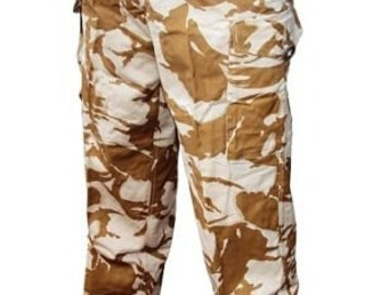 Desert/Sand Combat Tropical Trousers - Size Small, Medium, Large - British Army