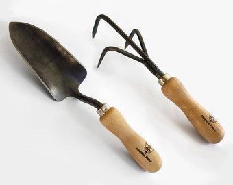 Garden Tool Set--Cultivator & Trowel