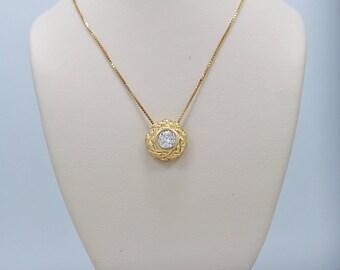 Estate Diamond Necklace .50ct. Diamond Yellow Gold - J36478