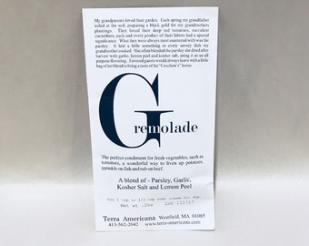 Gremolade - Seed Style Packet Envelope