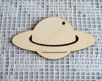 Wooden Saturn, solar system planets, Shapes Wood Craft, Baby Mobile Craft, jewelry supplies, Craft Decoration, Decoupage Unpainted