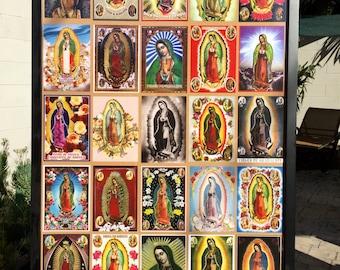 "50% OFF - Stunning GUADALUPE Chromo Historical Religious  20 x 30"" Photo Fine Art Print by MARIPOSAFUERTE"