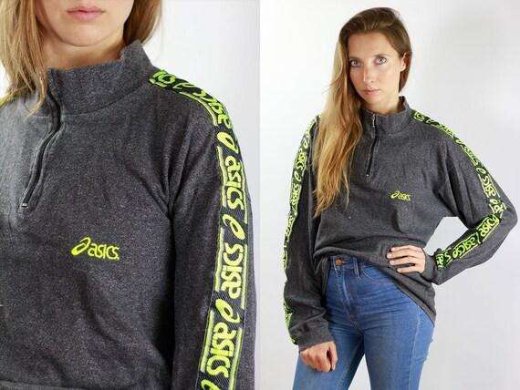 Vintage Sweatshirt 90s Sweatshirt 90s Tape Sweatshirt 90s Jumper Vintage Jumper Tape Jumper Asics Sweatshirt Asics Jumper Vintage Longsleeve