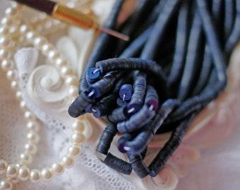 Dark Navy Blue colour-Sequins-Pailettes-4 mm sequins-Round sequins-Flat Sequins