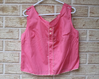 Vintage early 1960s deadstock pink crop top blouse