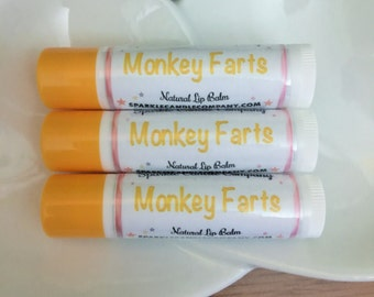 MONKEY FARTS Lip Balm - 15 oz. - Natural  Lip Butter - Fruity