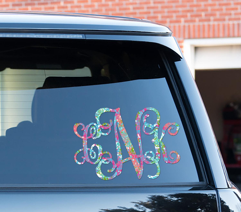 Monogram Car Decal Car Stickers Car Decor Cute Car Accessories
