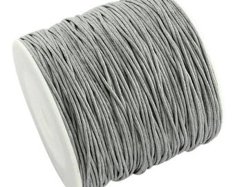 Light Grey Waxed Cord Thread 100 Yards 1mm - Jewelry Making