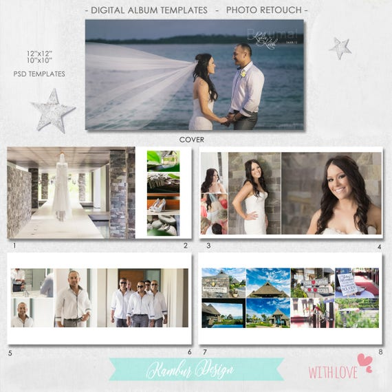 12X12 10x10 40 pages PSD Wedding Album Template 20