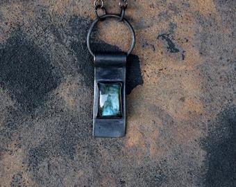 Labradorite  Copper necklace