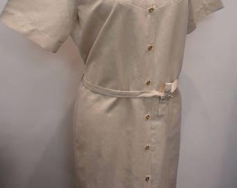 Dress - blouse naturel fabric size 6 - 8