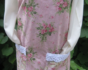 Garden Rose And Tea Party Canning Apron-Size Small